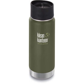 Klean Kanteen Wide Vacuum Insulated Drinkfles Café Cap 2.0 473ml groen
